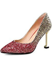 Para Amazon De Wanson Tacón Y Zapatos Mujer es 1WqAwa8
