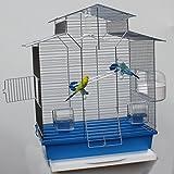 Heimtiercenter Vogelkäfig,Wellensittichkäfig,Exotenkäfig,60 cm Vogelkäfig Vogelbauer Wellensittich Kanarien Voliere Vogelhaus Käfig IZA 2 II blau