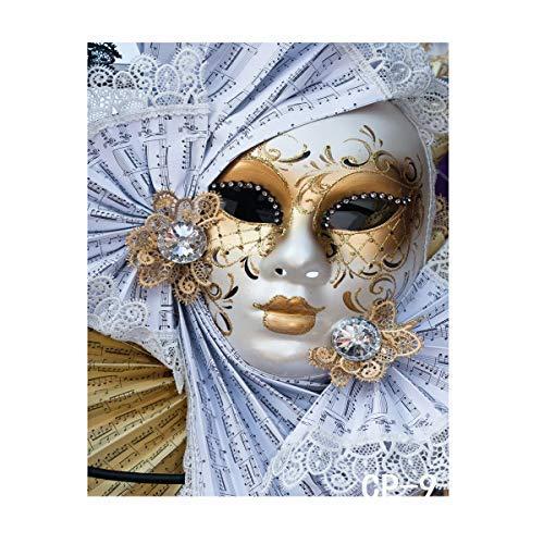 (LYWYGG 5x7FT Maskerade Maske Fiesta Geburtstag Musik Hintergründe Partei Kulissen Custom Geburtstagsparty Fotografischen Photo Studio CP-9)