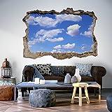 murando® 3D WANDILLUSION 140x100 cm Wandbild Fototapete Poster XXL Loch 3D Vlies Leinwand Panorama Bilder Dekoration Himmel c-C-0105-t-a