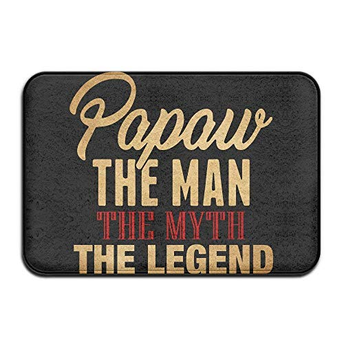 Klotr Fußabtreter, Papa The Man The Myth The Legend Father\'s DayDoormat Entrance Mat Floor Mat Rug Indoor/Outdoor/Front Door/Bathroom Mats Rubber Non Slip