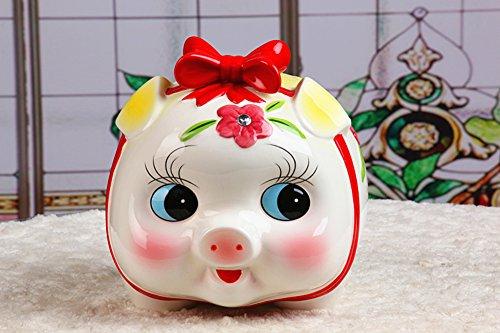 Großes schwein sparschwein,Kinder cartoon Goldenes schwein baby piggy bank Geburtstagsgeschenk-B 20x14x16cm(8x6x6inch)