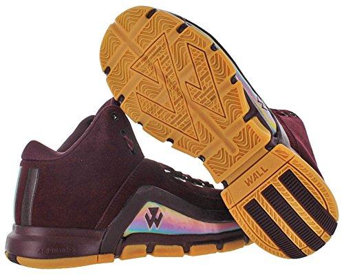 Adidas J Wall 2 Daim Baskets Maroon-Bopink-Gum9