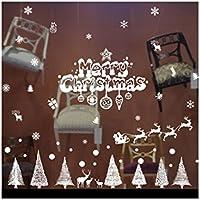 Fragrant Natale Foresta neve Elk Wall Sticker finestra della camera
