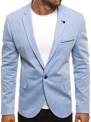 OZONEE Herren Sportsakko Sportliche Sakko Jackett Slim Fit Blazer Anzugjacke Business Anzug Kurzmantel BLACK ROCK 04-3 XS (Mit Baumwolle Drei-knopf-blazer)