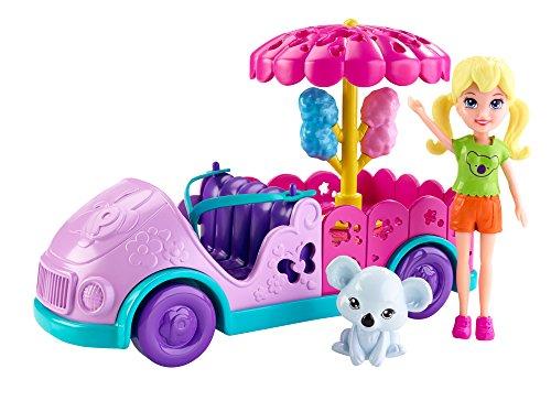 Mattel Polly Pocket DNB58 - Zoofreunde-Mobil, Zubehör