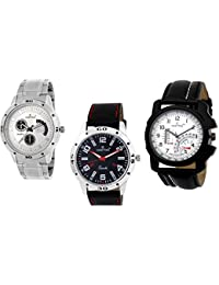 HASHTAG Analogue Multi-Colour Dial Men's Watch- HTC-TRIPLET4-Combo 3 Watches