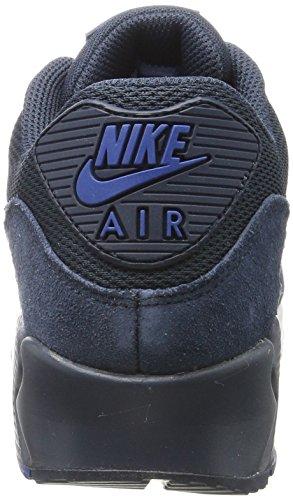 Nike Herren Air Max 90 Essential Low-Top Blau (Armor Nav/Armor Nav-Blue Ja-White)