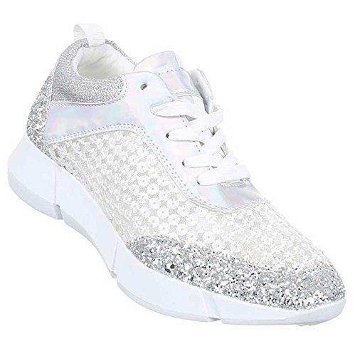 Damen Freizeitschuhe Schuhe Sneaker Sportschuhe Schwarz Gold Silber 36 37 38 39 40 41