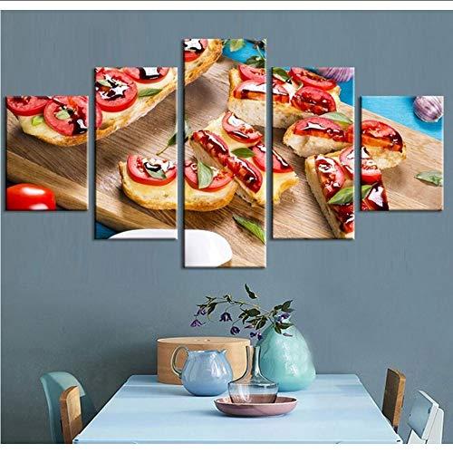 Pmhhc 5 Stücke Brot Snacks Leinwand Malerei Modulare Bilder Wandkunst Hd Druckt Lebensmittel Restaurant Büro Dekoration Kunstwerk Poster-30X40Cmx2 30X60Cmx2 30X80Cm