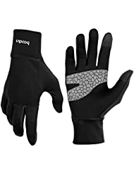 Light Sports Gloves Running Gloves WARM UP by Boodun Running Gloves Unisex Slim Sports Gloves Jogging Gloves for Women and Men with Touchscreen Function