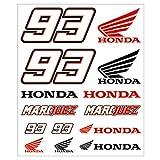 Marc Marquez 93 Dual Honda MotoGP gran Sticker Set oficial Nuevo