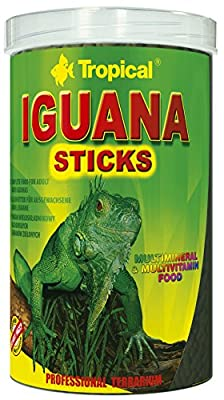 Tropical Iguana Sticks - 1000ml/260g - Complete food for adult iguanas for every day feeding by Aquatic Paradise