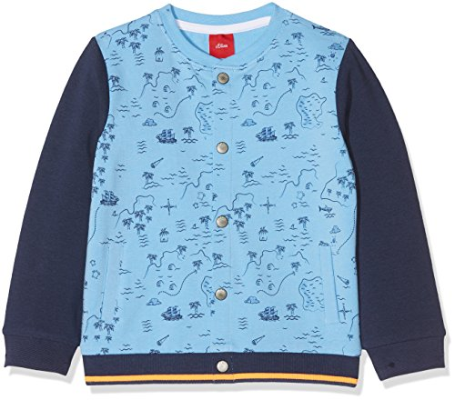 s.Oliver Baby-Jungen Sweatjacke 65.804.43.4938, Blau (Light Blue 5316), 86