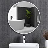 #5: Quality Glass Frameless Round Mirror | Mirror for Wall | Mirror for Bathrooms | Mirror for Home | Mirror Decor | Mirror Size : 18 inch x 18 inch.(QG-FL-023)