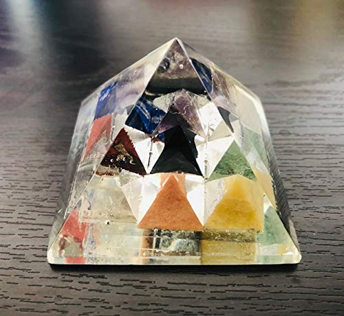 Natural Orgone Curativo Cristallo Turchese simbolo del chakra della gola Piramide