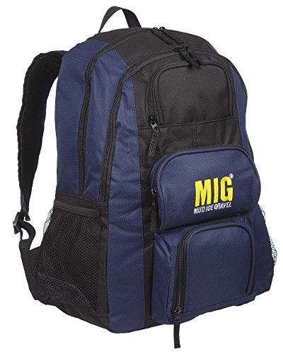 Mens Backpack Rucksack Bags - for Work Travel Camping Sports School Fishing (Navy)
