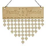calendarios de pared Sannysis DIY calendarios de adviento decoración de navidad planificador y calendario para hogar planificador mensual organizador mensual tablero corcho (C)
