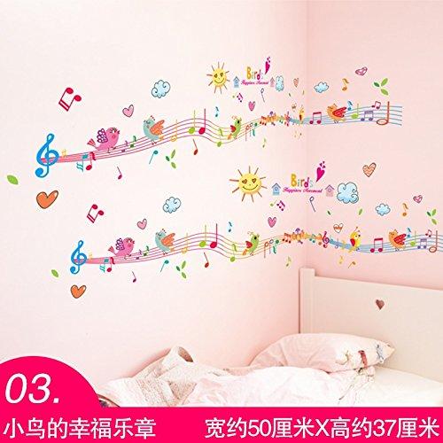 Preisvergleich Produktbild WU-Wall Sticker kreative Wand Aufkleber Kunst Musik Tanz Unterricht Wände sind Schlafzimmer Wand teenage Herzen Wand Papier selbstklebend eingerichtet