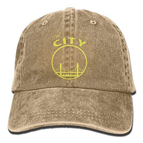 KKAIYA San Francisco The City Washed Retro Adjustable Denim Hats Peaked Cap for Women and Men (City Sports Newsboy Caps)