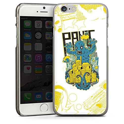 Apple iPhone 4 Housse Étui Silicone Coque Protection Monstre Ville Imagination CasDur anthracite clair