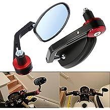 "Frenshion 7/8"" 22mm Motocicleta/Moto Retrovisore Espejo Universal Laterales Trasera Espejos para Yamaha Honda Triumph Ducati Negro"