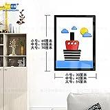 Hongrun 3D-Acryl Wandhalterung An Der Wand Im Wohnzimmer Esszimmer Schlafzimmer Cartoon Kinder Kreativ Dekorative Rahmen, Der, 40 * 30 Cm