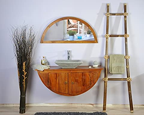 Saniteck france - Meuble salle de bain teck 120 boat