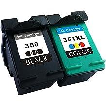 TooTwo 2 Paquete Cartuchos de Tinta Remanufacturados Reemplazar para HP 350XL 351XL 350 351 (1 Negro, 1 tricolor) Compatible para Photosmart C4480 C4580 C4380 C4348 C4270 C4272 C4275 C4483 C5273