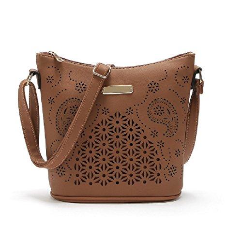 Eimer Tasche Große Handtasche Große Kapazität Schulter Diagonale Paket Coffee