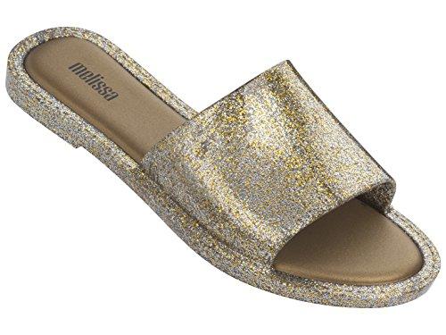 melissa Damen Soul Peeptoe Sandalen, Gold Glitter 3771, 35/36 EU