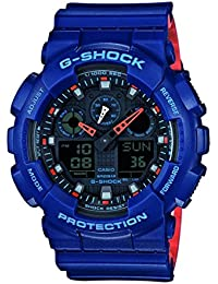 Casio G-Shock – Reloj Hombre Analógico/Digital con Correa de Resina – GA-100L-2AER