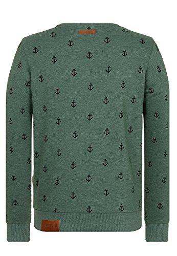 Naketano Male Sweatshirt Fuck being modest Pine Green Melange