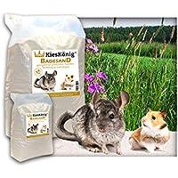 Premium Badesand für Chinchillasand, Hamster, Rennmäuse und Degus - samtweiche abgerundete Körnung 10 Kilogramm