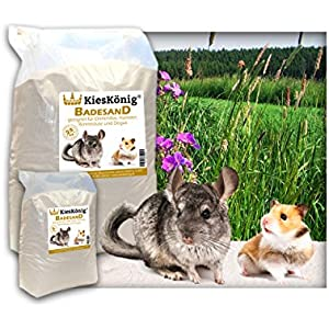 [Gesponsert]Premium Badesand für Chinchillasand, Hamster, Rennmäuse und Degus - samtweiche abgerundete Körnung 5 Kilogramm