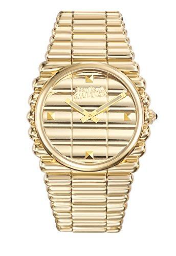 Reloj hombre–Jean Paul Gaultier–borde Costa–acero PVD amarillo–40mm–8504202