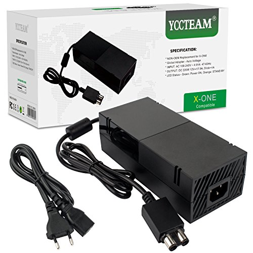Xbox One Netzteil, AC Adapter Netzteil Ladegerät Kabel Ersatz Kit für Xbox One Konsole, Auto Spannung 100-240V, YCC-XB043- Schwarz