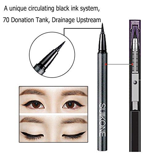 OFKPO Moda Impermeabile Eyeliner Liquido Asciugatura Rapida Precision Micro Eyeliner(Nero)