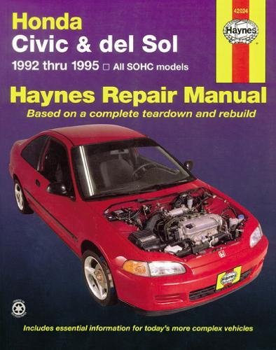 Honda Civic and del Sol, 1992-1995: 1992 to 1995 (Haynes Automotive Repair Manuals) por John Haynes