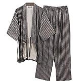 Fancy Pumpkin Lo Stile Giapponese degli Uomini Veste l'abito del Vestito del Vestito da Pigiama Puro del Cotone del Kimono