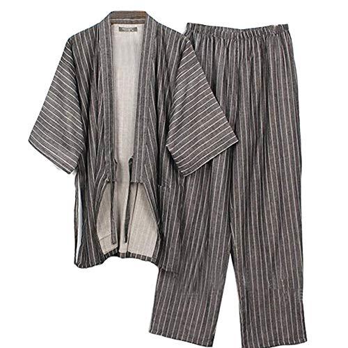 Trajes Estilo japonés Hombres Traje Pijama algodón