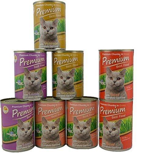 Premium Best Food Gatos húmedo Forro muestras Mix (Cordero, salmón &