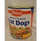 Meica Amrican Premium Hot Dogs 1600g Dose (Hot Dogs Würstchen)