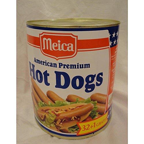 Kochen Hot Dogs (Meica Amrican Premium Hot Dogs 1600g Dose (Hot Dogs Würstchen))
