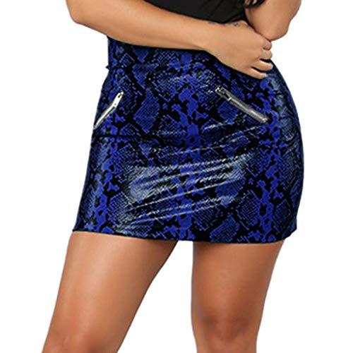 Goldatila Womens Polyester Elastic Zipper Bodycon Skirt Casual Pencil Tube Skirt