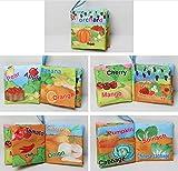 EoamIk Dauerhafte Tuch Buch Kinderwagen Spielzeug Baby-Stoff-Buch-niedliches Crinkly-Tier-Stickerei-Stoff-Buch-Baby-Intelligenz-Entwicklungs-Lernen
