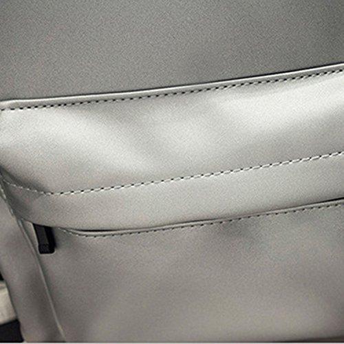 PU Studenten Schule Große Kapazität Einfache Schultasche Laptop-Tasche Bunt Pink
