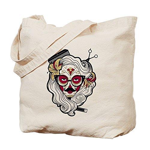Bolso de lona con diseño de calavera de azúcar para mujer, reutilizable, respetuoso con el medio...