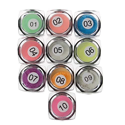 YO-HAPPY 10 Colors Luminous Powder Resin Pigment Dye UV Resin Epoxy DIY Making Jewelry