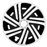 14 Zoll Bicolor Radzierblenden CYRKON (Weiss/Schwarz). Radkappen passend für fast alle FORD wie z.B. Fiesta MK7
